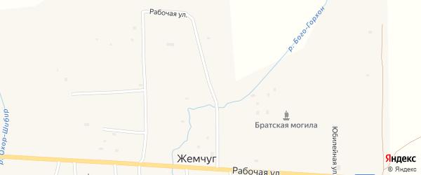 Рабочая улица на карте села Жемчуга с номерами домов
