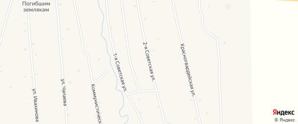 Советская 2-я улица на карте села Жемчуга с номерами домов