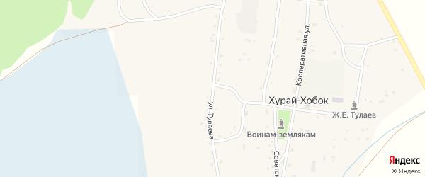 Улица Тулаева на карте улуса Хурай-Хобок с номерами домов