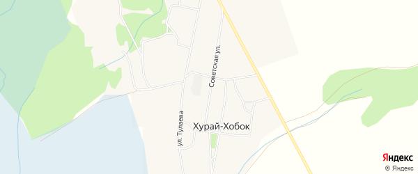 Карта улуса Хурай-Хобок в Бурятии с улицами и номерами домов