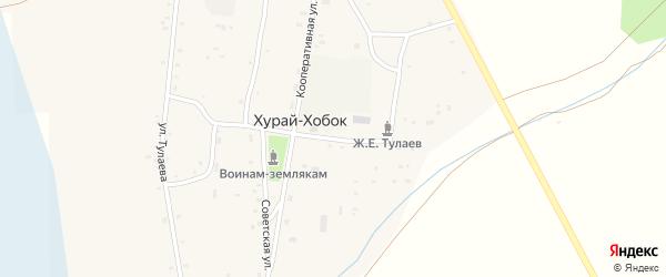 Школьная улица на карте улуса Хурай-Хобок с номерами домов