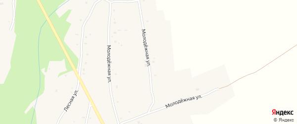 Молодежная улица на карте улуса Хурай-Хобок с номерами домов