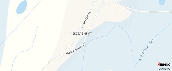 Молодежная улица на карте местечка Табалангута с номерами домов