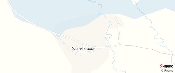 Улица Улан-Горхон на карте улуса Улан-Горхон с номерами домов