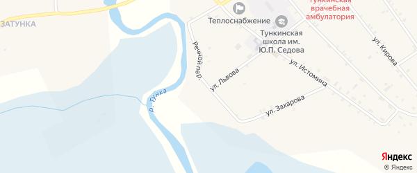 Речной переулок на карте села Тунки с номерами домов