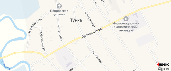 Тункинская улица на карте местечка Вышки с номерами домов