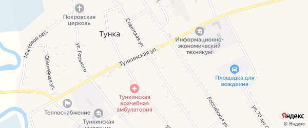 Советская улица на карте села Толтоя с номерами домов