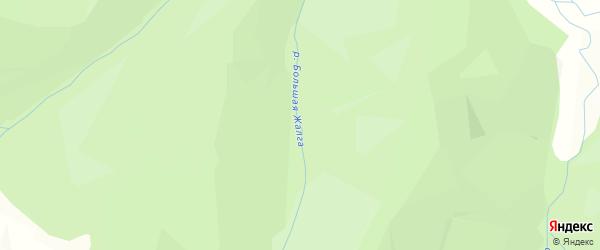 Карта местечка Жалги в Бурятии с улицами и номерами домов