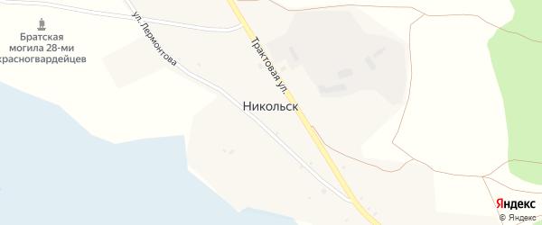 Трактовая улица на карте села Никольска с номерами домов