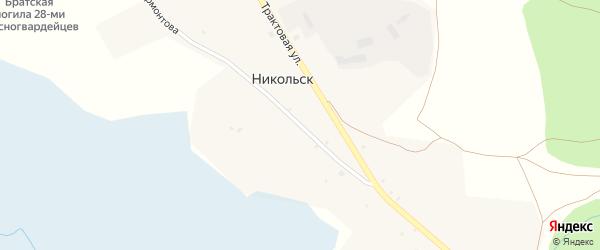 Улица Лермонтова на карте села Никольска с номерами домов