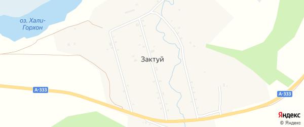 Комсомольская улица на карте села Зактуя с номерами домов