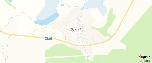 Карта села Зактуя в Бурятии с улицами и номерами домов