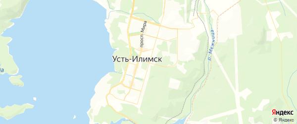 Карта Усть-Илимска с районами, улицами и номерами домов