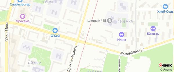 Улица Мечтателей на карте садового некоммерческого товарищества Пищевика-1 с номерами домов