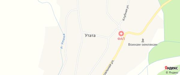 Полевая улица на карте улуса Утата с номерами домов