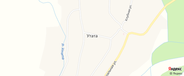 Школьная улица на карте улуса Утата с номерами домов