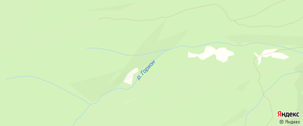 Карта местечка Хэра Горхона в Бурятии с улицами и номерами домов
