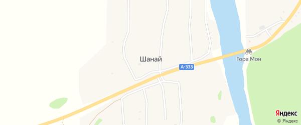 Местечко Верхний Шанай на карте улуса Шанай с номерами домов