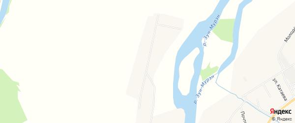 Карта улуса Шанай в Бурятии с улицами и номерами домов