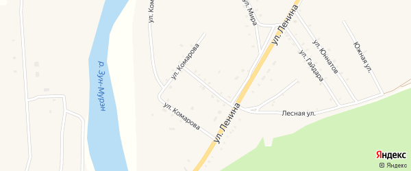 Улица Терешковой на карте поселка Зун-Мурино с номерами домов