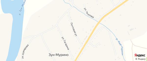 Почтовая улица на карте поселка Зун-Мурино с номерами домов