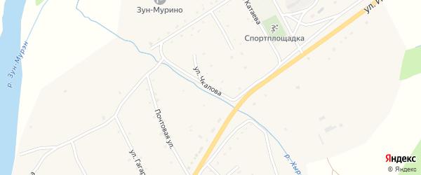 Улица Чкалова на карте поселка Зун-Мурино с номерами домов