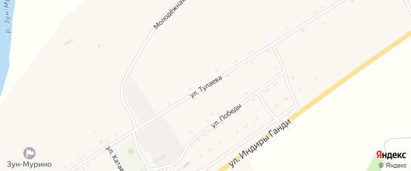 Улица Тулаева на карте поселка Зун-Мурино с номерами домов