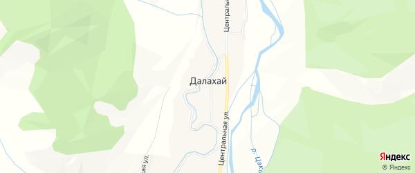 Карта улуса Далахай в Бурятии с улицами и номерами домов