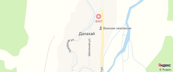 Центральная улица на карте улуса Далахай с номерами домов
