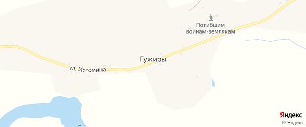 Улица Истомина на карте села Гужиры с номерами домов