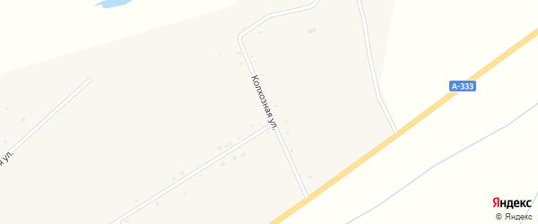 Колхозная улица на карте поселка Зун-Мурино с номерами домов