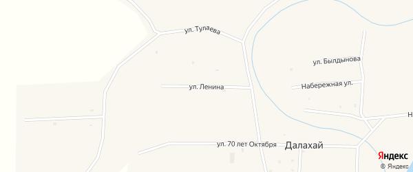 Улица Ленина на карте улуса Далахай с номерами домов