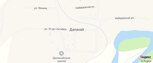 Улица Бараева на карте улуса Далахай с номерами домов