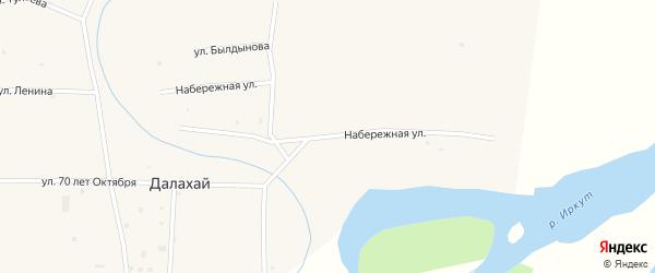 Набережная улица на карте улуса Далахай с номерами домов