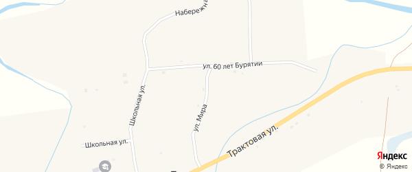 Молодежная улица на карте села Торов с номерами домов