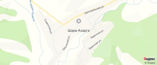 Местность Халзан на карте улуса Шара-Азарга с номерами домов