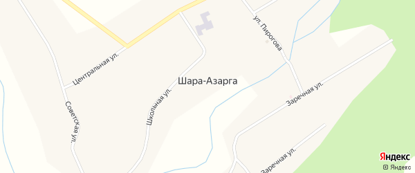 Заречная улица на карте улуса Шара-Азарга с номерами домов