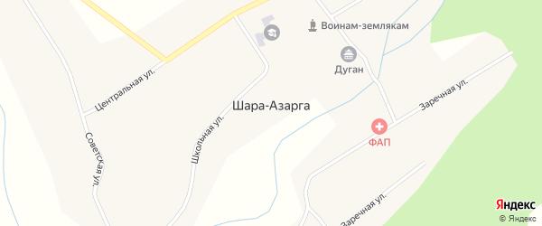 Местность Улан Горхон на карте улуса Шара-Азарга с номерами домов