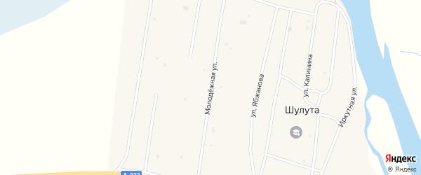 Молодежная улица на карте улуса Шулута с номерами домов