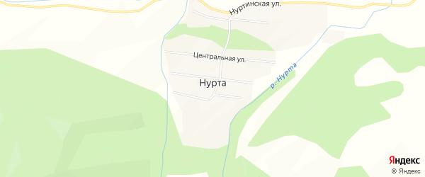 Карта улуса Нурта в Бурятии с улицами и номерами домов