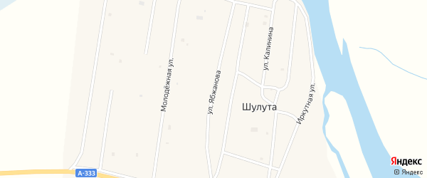 Улица Ябжанова на карте улуса Шулута с номерами домов