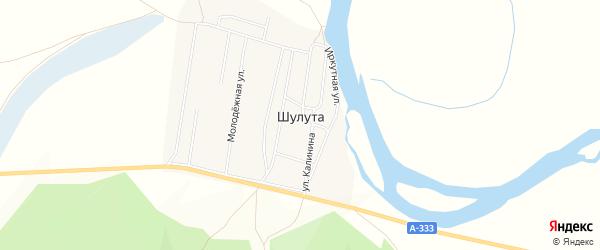 Карта улуса Шулута в Бурятии с улицами и номерами домов