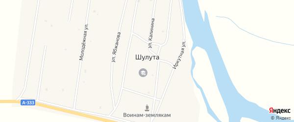 Улица Местность Утэг на карте улуса Шулута с номерами домов