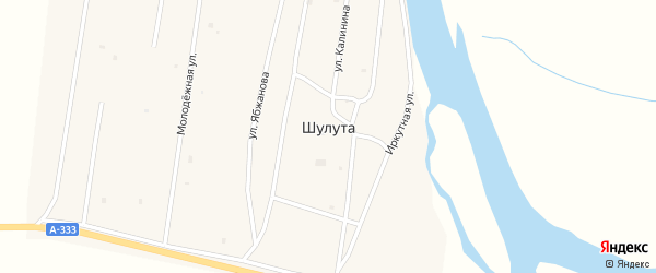 Иркутная улица на карте улуса Шулута с номерами домов