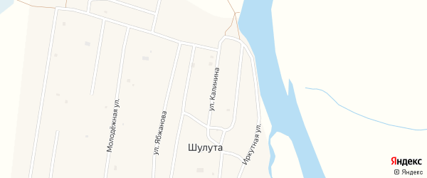 Улица Калинина на карте улуса Шулута с номерами домов