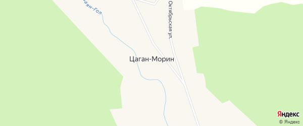 Заречная улица на карте улуса Цаган-морина с номерами домов