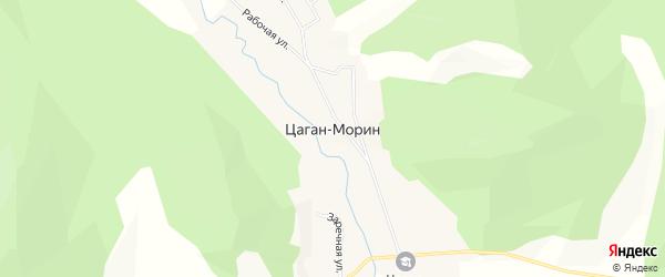 Карта улуса Цаган-морина в Бурятии с улицами и номерами домов