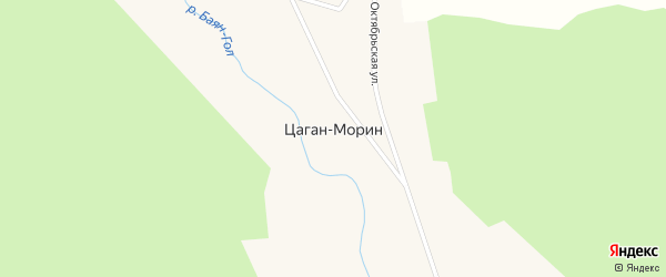 Нагорная улица на карте улуса Цаган-морина с номерами домов