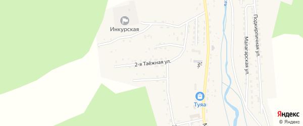 Таежная 2-я улица на карте Закаменска с номерами домов