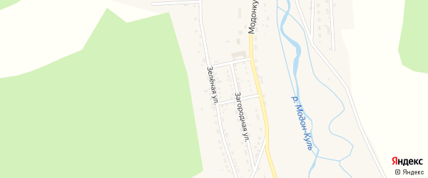 Зеленая улица на карте Закаменска с номерами домов